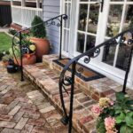 Free standing grip rail over old bricks