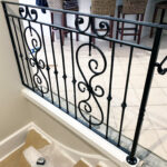 Dural internal wrought iron rail